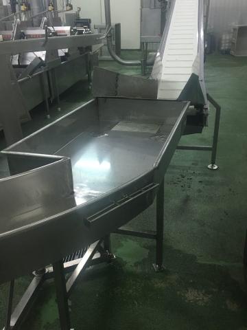 Bañera en acero inoxidable AISI316 alimentario, con patas regulables, para industria cárnica