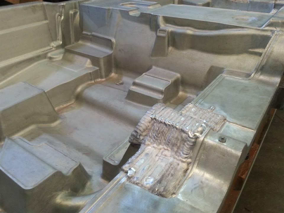 Soldadura de moldes de inyección. Soldadura TIG en molde de aluminio de gran tamaño