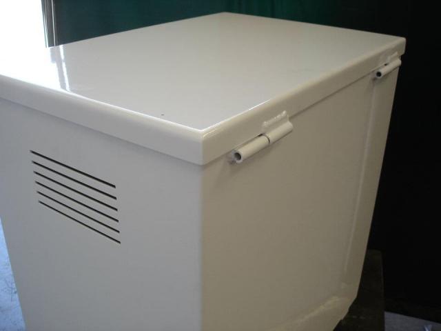 Cajón de aluminio. Diseño, corte, plegado, soldadura y pintura