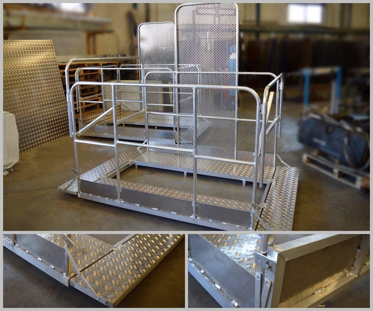 Estructura metálica en aluminio