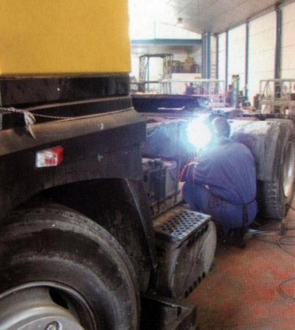 Reparación in situ de chasis y plataformas