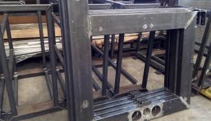 soporte industrial en acero