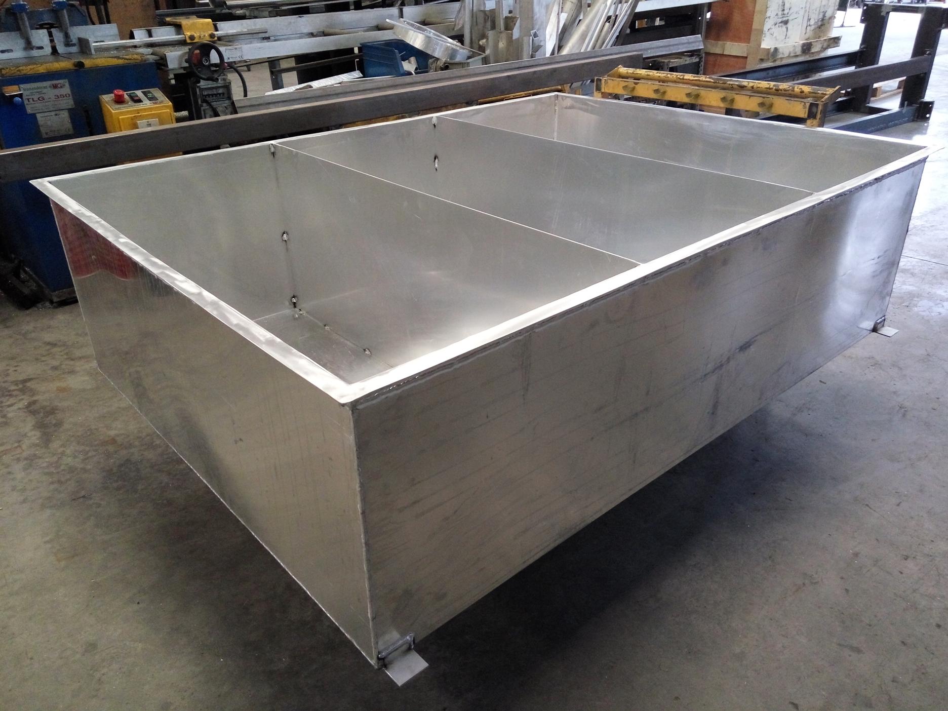 Tanque de agua en aluminio