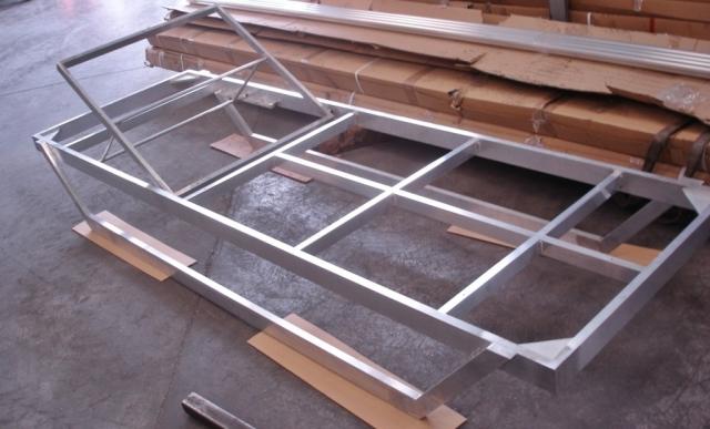 Tumbona en aluminio