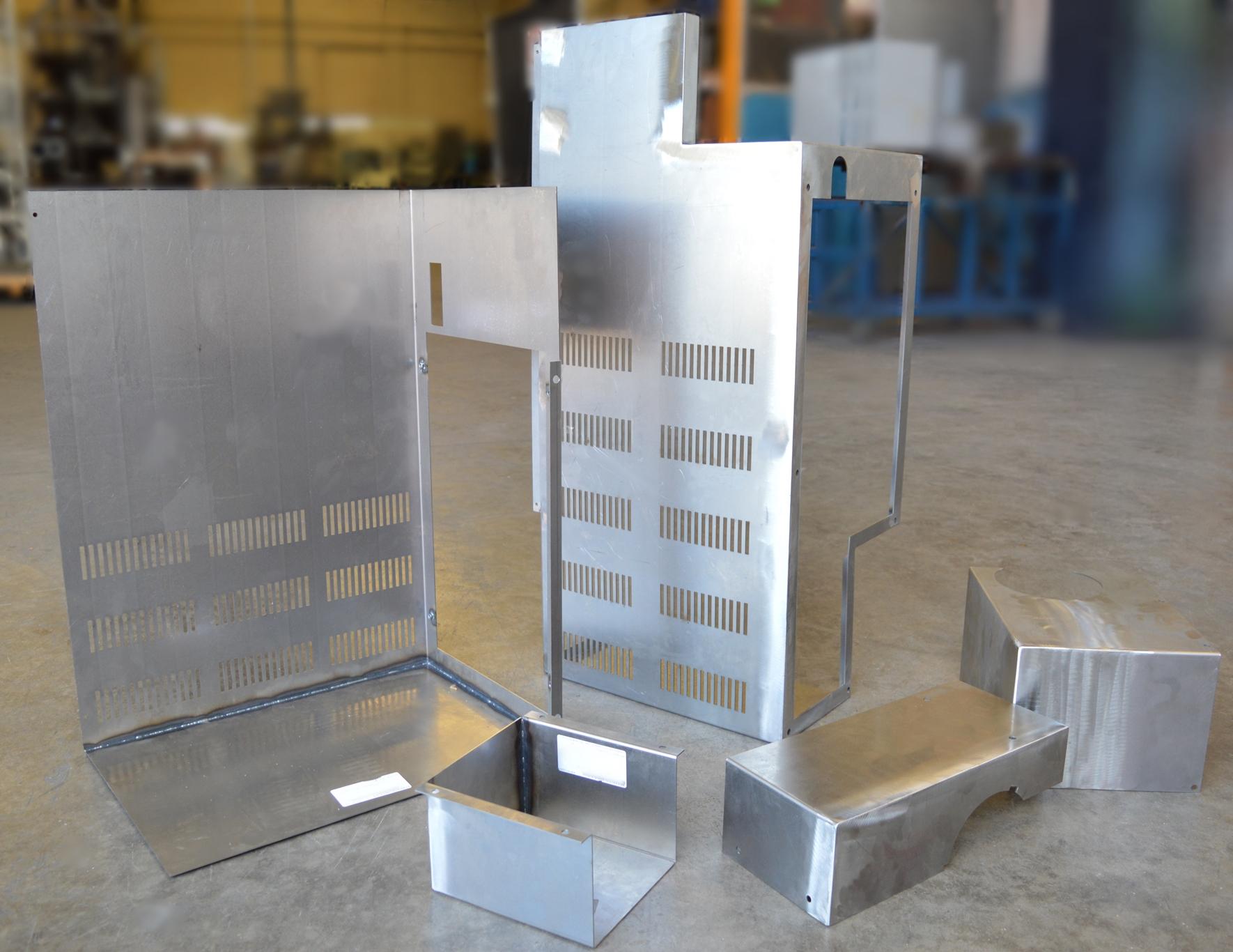 Fabricación por soldadura de chapa plegada acero a TIG