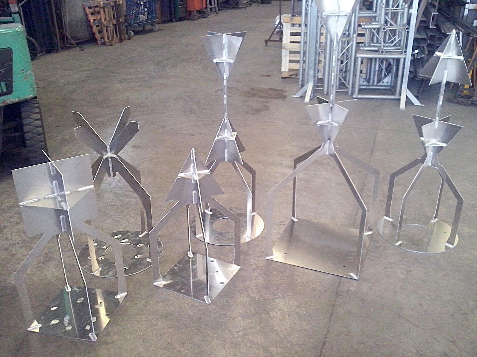 Fabricación por soldadura. Figuras en chapa de aluminio