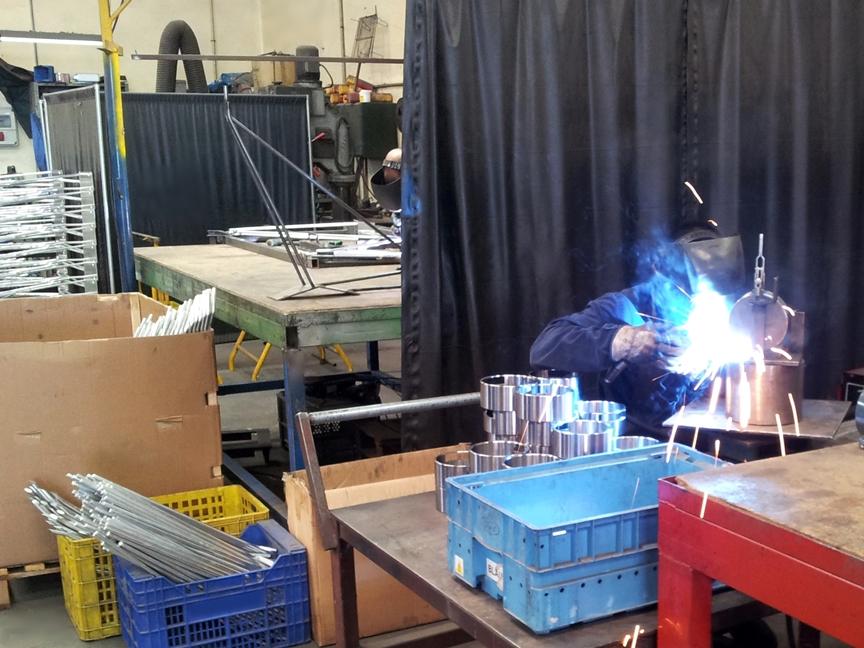 Fabricación por soldadura. Soldadura de piezas en serie
