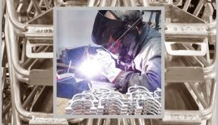 Fabricación por soldadura. Piezas de aluminio