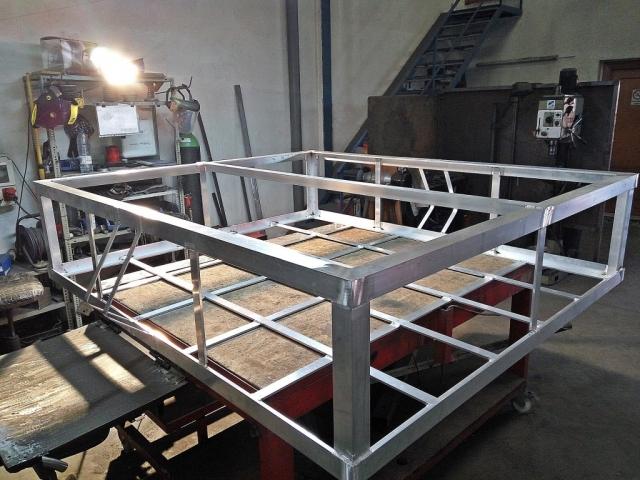 Estructura de aluminio