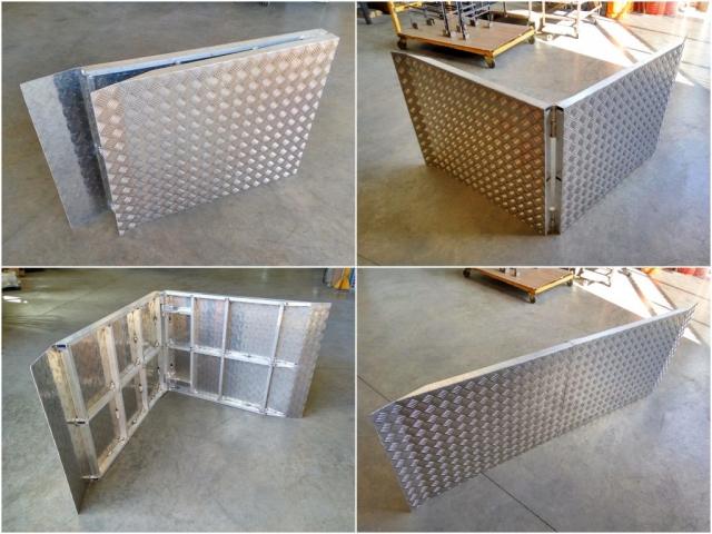 Rampa plegable a medida en aluminio