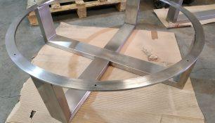 estructura mesa acero inoxidable
