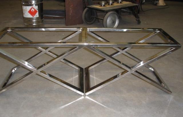 Mesa inoxidable acabado espejo